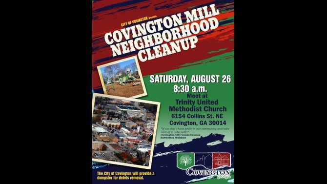 Covington Cares Covington Mill Clean Up 8.5x11
