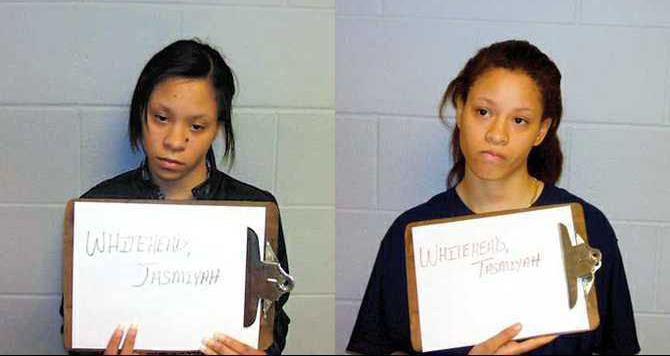 Jasmiyah and Tasmiyah Whitehead arrest mugs
