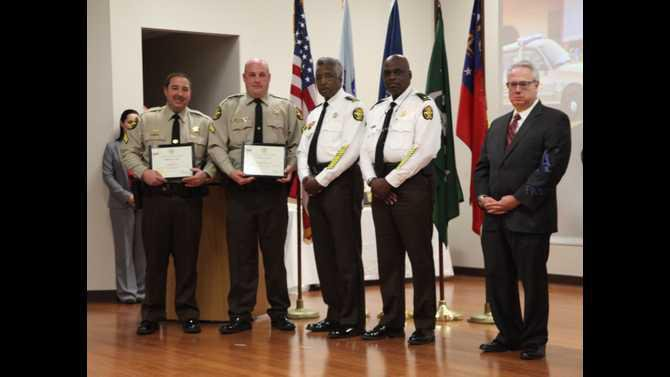 0221NCSO Corporal Kenneth Kent and Corporal Timothy Dickerson received the Lifesaving Award during the NCSO Awards Ceremony Friday