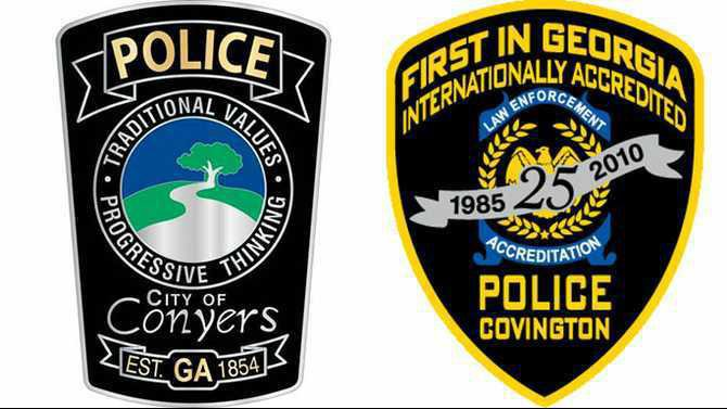 Conyers Covington police patches top-media