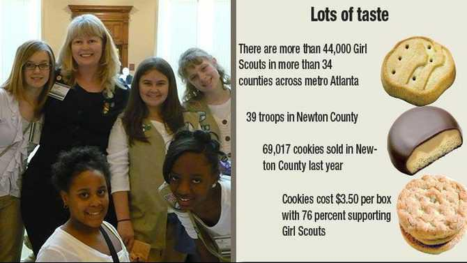 girl scouts cookie time