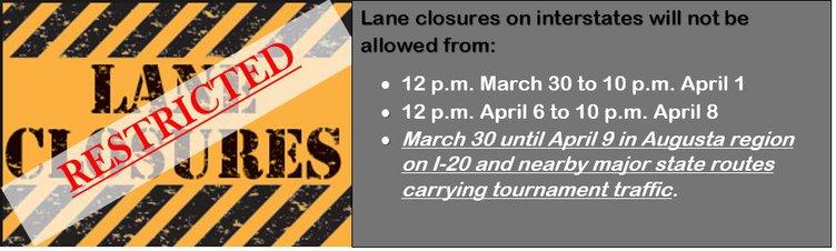 GDOT Lane closures
