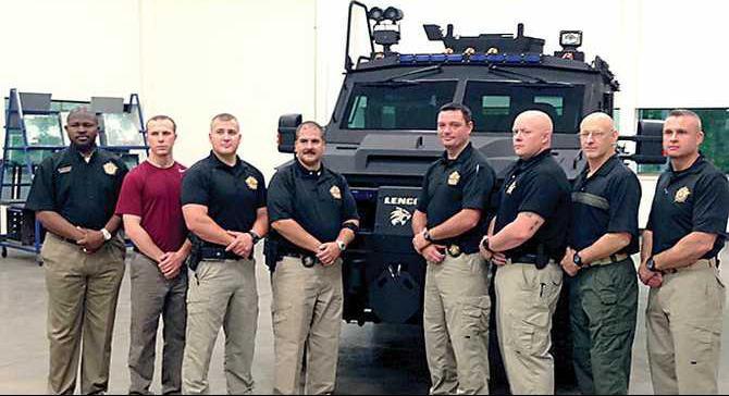 08-20-14-bearcat-with-swat-team-levett-cpd-chase-bagwell-deputies-mason-west-rene-shirley-sgt-jeremy-mote-sgt-jake-coggins-cpd-sgt-greg-carson-freeman