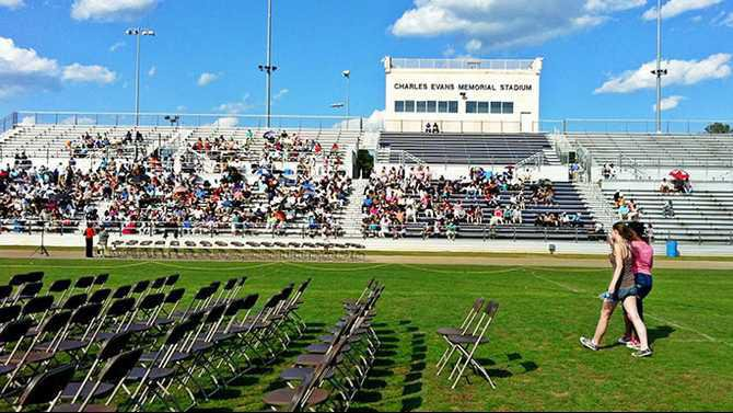 HHS graduation audience-photo-by-cell-phone