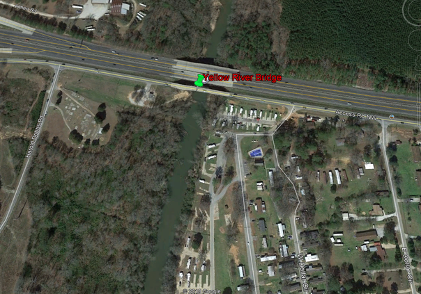Frontage Road bridge testing to affect traffic at Yellow River near I-20