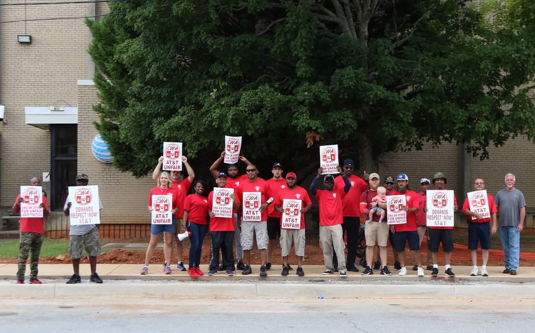 Over 20,000 AT&T workers in the South went on strike over weekend