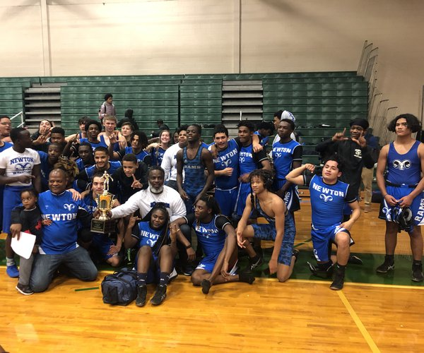 Newton Rams wrestling wins their first Newton Cup